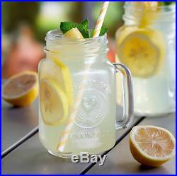 (12/Pack) 16 oz Glass Mason Drinking Jars with Handle Versatile Use Bar Restaurant