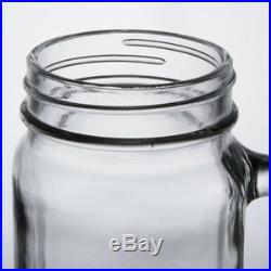 (12-Pack) 16 oz. Glass Mason Jars / Drinking Jars with Handle
