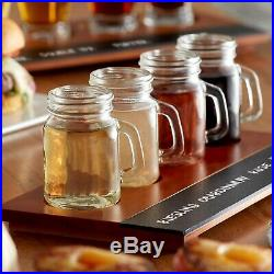 12 Pack Mini Mason Jar with Handle 4.75 oz Clear Glass Party Cups Catering Bar