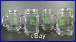 14 Bud Light Budweiser Lime A Rita 16 oz Mason Jar glasses w handle NEW MUGS