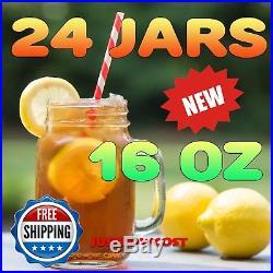 16 oz. Mason Jar Drinking Handle Tea Juice Floats Wedding Party Beverage 24 CT