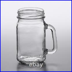 (24-Pack) 16 oz Glass Mason Jars Restaurant Bar Drinking Glasses with Glass Handle