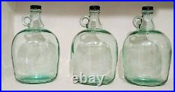 (3) Gallon Glass Bottle Clear Jar Jug Container Dispenser with Handle