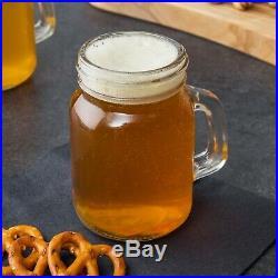 48 Case 4.75 Oz Mini Glass Mason Canning Drinking Jar withHandle Wedding Small CPS