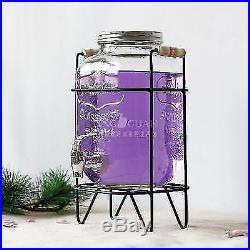 4L/5L/8L Glass Jar Faucet Beverage Drink Dispenser Durable Party Cocktail Punch