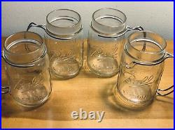 4 Ball Mason Pint Jars With Aluminum Wire Handles Only Ones Ive Ever Seen