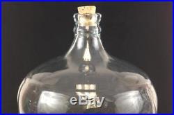 530D Crisa Mexico Blue Tint Glass HUGE 5 Gallon JUG No Handle 19.5