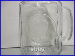 6 County Fair Drinking Jars with Handles, Excellent Condition