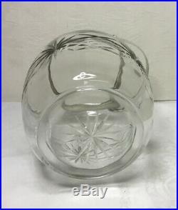 ANTIQUE CUT GLASS BISCUIT JAR Silverplate Lid, Handle & Rim