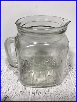 American Vintage 60 Oz Mason Jar Glass Pitcher with Handle