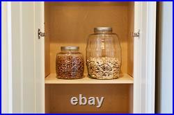 Anchor Hocking 2.5-Gallon Glass Barrel Jar with Lid, Brushed Aluminum, Set of 1