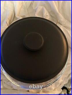 Anchor Hocking Montana Glass Jar with Fresh Sealed Lid Black Metal 1.5 Gallon