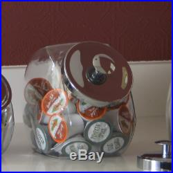 Anchor Hocking Penny Candy Glass Jar Storage Container With Lid