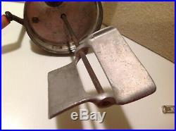 Antique Butter Churn 4QT Glass Jar Metal Paddles, 13Tall, Red Handles Must