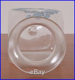 Antique CHINA Label Glass Apothecary Jar Hand Blown Fruit Handle Pontil