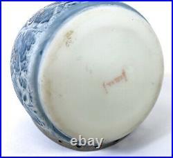 Antique Nakara C F Monroe Art Glass Cigar Humidor Tobacco Jar Rare! With Handle