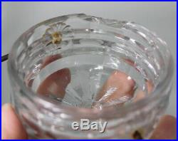 Antique Victorian Canning Jar Screw GLASS LID Handle Candy Food Fruit
