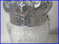 Arthur Court Good Dog Treat Jar Container Aluminum Crown Lid Bone Handle 2002