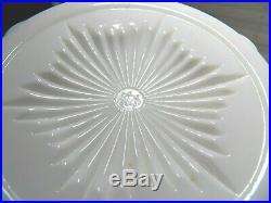 Beautiful Westmoreland Milk White Lg. Covered 2 Handle Bowl / Jar Cherry Pattern