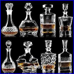 Beer Bottle Jar Jug Crystal Glass Wine Red Bottle Decanter Whiskey Liquor Pourer