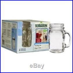 Bernardin Mason Jar Mug withHandle 16 oz Pack of 4