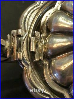 Birks Mustard Pot / Jam jar Handle Cobalt Glass Liner Sterling Silver BEAUTIFUL