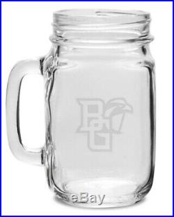 Bowling Green Crystal 470ml Drinking Jar With Handle. Collegiate Crystal & Glass