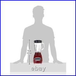 Brentwood JB-920R 12 Speed and Pulse Electric Kitchen Blender with Glass Jar, Red