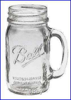 Bridal Wedding Sets 12 BALL MASON 24oz & 12 Ball 16oz Drinking Jars with Handles