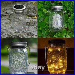 CHBKT 4-Pack Solar-powered Mason 4 Pack (Jar & Handle Included), Warm White