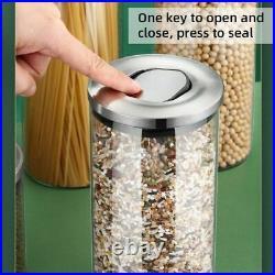 Cereal Dispenser Glass Container Jar Home Kitchen Storage Organizer Accessories