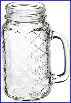 Circleware Garden Gate Yorkshire Mason Jar Mugs Glass Handles Water Juice Beer