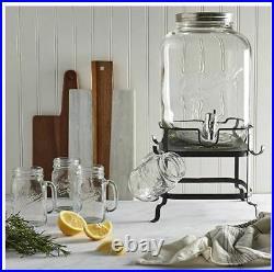 Classic 6 Piece Mason Jar Drink Dispenser Set New, Unopened Box. Free Shipping