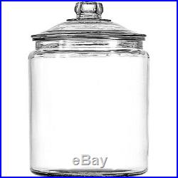 Clear Glass Heritage 2-Gal Hill Jar With Lid Kitchen Countertop Storage Container