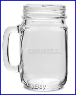 Cornell Crystal 470ml Drinking Jar With Handle. Collegiate Crystal & Glass