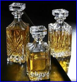 Crystal Glass Wine 2pcs Cups Wine Decanter Whiskey Liquor Pourer Red Bottle Jars