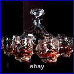 Decanter Whiskey Bohemia Liquor Crystal Glass Wines Red Bottle Wine Pourer Jars