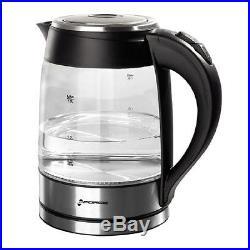 Electric Kettle Tea Coffee Maker Glass Jar Handle Grip Auto Shut GForce 7.6Cup
