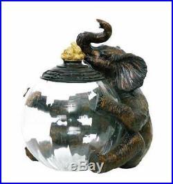 Elephant Jar Keeper with Peanut Handle ID 99061
