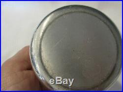 Estate Vintage Pewter Beehive Honey Pot Jar withGlass Liner Gold Tone Bee Handle