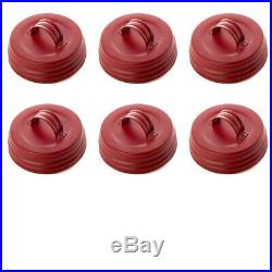 Factory Direct Craft Matte Red Small Mouth Mason Jar Lids with Handle 6 Lids