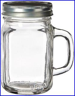 Fashioncraft Perfectly Plain Glass Mason Jar with Handle, 350ml. Brand New
