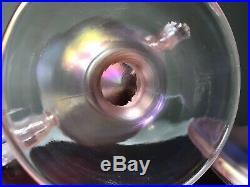 Fenton Velva Rose Stretch Glass Apothecary Candy Jar & Lid Dolphin Handles MINT