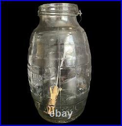 Gem Dandy Electric Churn 3 Gallon Glass Jar Handle Paddle Vtg Antique