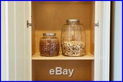 Glass Barrel Storage Jar with Lid Durable Vintage Pickle Canister for fresh food