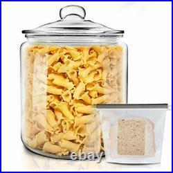 Glass Jars with Lids 3.9L Large Storage Jar Transparent Cookie Jar for