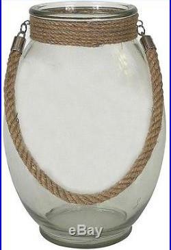 Home Decorators Jacinda Clear Glass Jar with Rope Handle