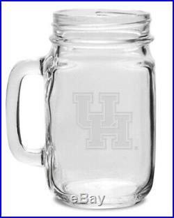Houston Crystal 470ml Drinking Jar With Handle. Collegiate Crystal & Glass
