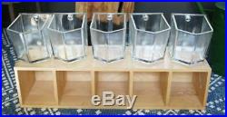 IKEA Forhoja Glass 5 Drawer Canister Scoop with Handle Hoosier Cabinet Kitchen Jar