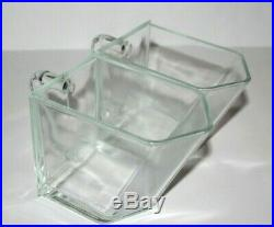 IKEA Forhoja Glass Drawer Canister Scoop with Handle Container Square Jar Set 2